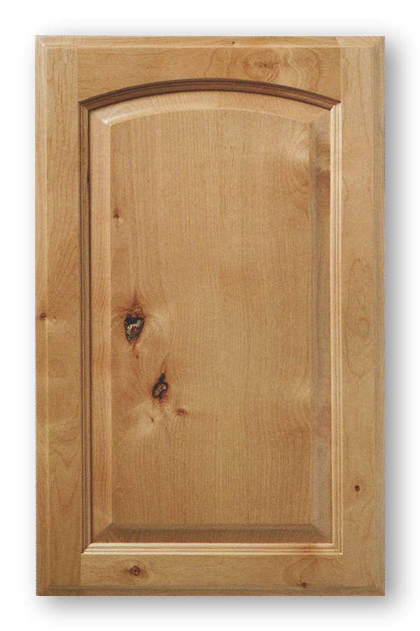 High Quality Knotty Alder Arch Top Raised Panel Cabinet Door Utah