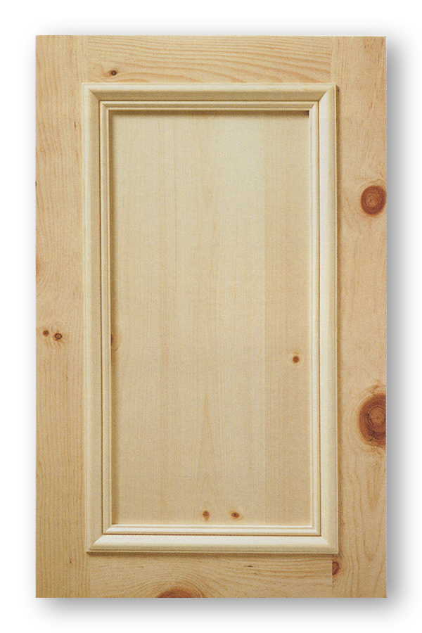 Knotty Pine Applied Moulding Cabinet Door Inset Panel