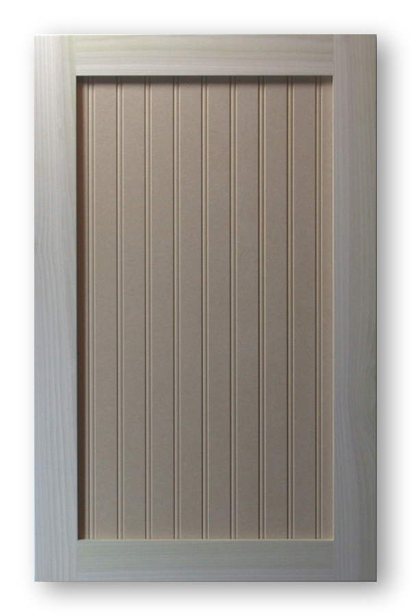 Shaker Beadboard Cabinet Door Poplar Frame Mdf Panel 15 Bead Spacing