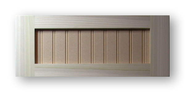 Shaker Beadboard Cabinet Door Poplar Frame Mdf Panel 1 5 Bead Spacing