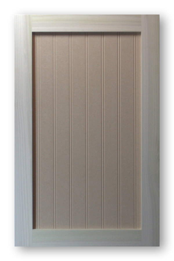 Shaker Beadboard Cabinet Door Poplar Frame Mdf Panel 2 Bead Spacing