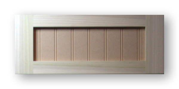 Shaker Beadboard Cabinet Door Poplar Frame Mdf Panel 2