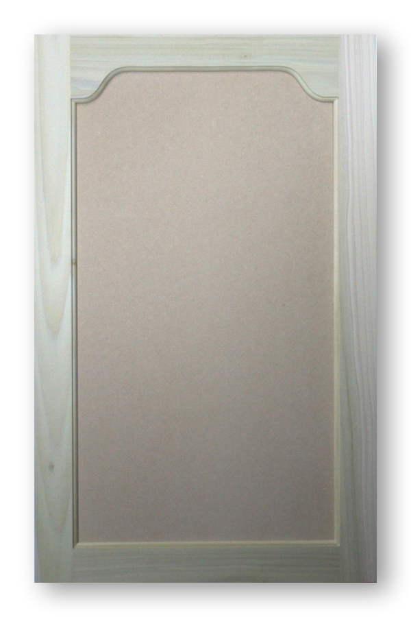 Paint Grade Country Arch Top Cabinet Door