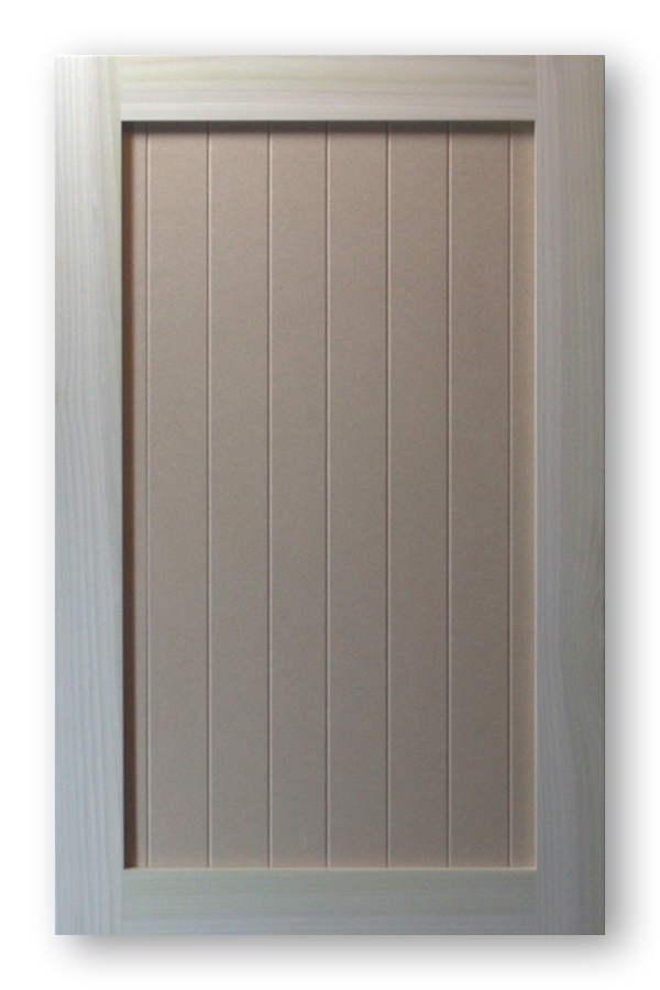 Shaker vee groove cabinet door poplar frame mdf panel 2 for Mdf painted cabinet doors