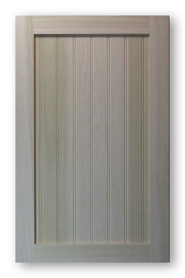 Shaker Beadboard Cabinet Door - Poplar Frame Poplar Panel
