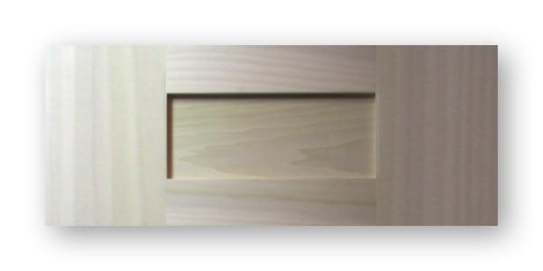 Wide Rail Shaker Drawer Front Poplar Frame Poplar Panel